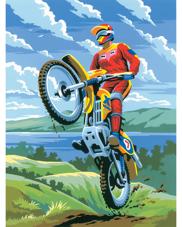 Paint by numbers Motorcross
